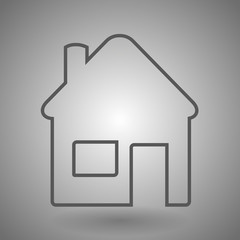 House line icon for web, mobile and infographics. Vector dark grey icon isolated on light grey background.