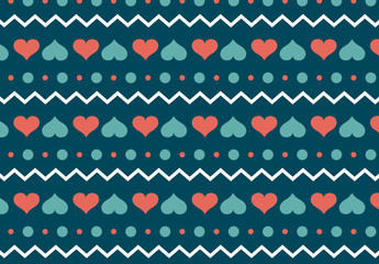 Heart, Polka Dot, and Zigzag Pattern 1