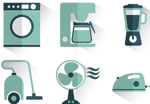 9 Teal Home Appliance Icons