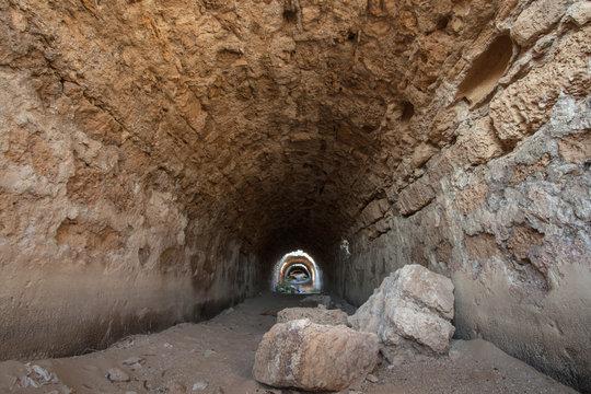 Roman aqueduct in caesarea maritima a national park on the israeli coastline near the town of caesarea;Caesarea israel