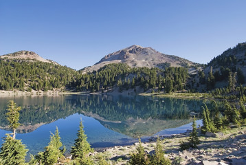 Mountain reflected in helen lake;California united states of america