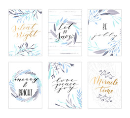 Christmas lettering cards.
