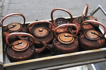 Copper teapots;Beijing china