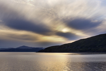 Cloud formations at sunset;Applecross highland scotland
