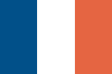 flag of france (official colors)