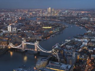 Cityscape and the River Thames, London, England