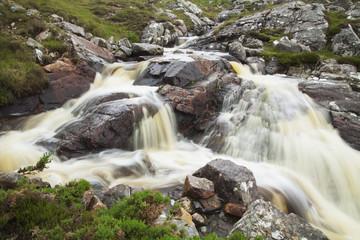 Water rushing in a creek near Durness; Sutherland, Scotland