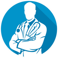 medical doctor flat icon