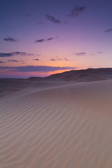 Sunset Over The Sand Dunes; Liwa Oasis, Abu Dhabi, United Arab Emirates
