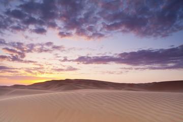 Sunset Over The Sand Dunes; Liwa Oasis, Abu Dhabi, United Arab Emirates