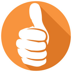thumb up sign flat icon