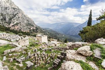 Treasury of Athenians; Delphi, Greece