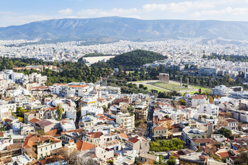 View from the Temple of Olympian Zeus; Athens, Greece