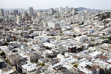 Aerial view of San Francisco; San Francisco, California, United States of America