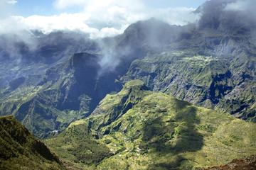 Panorama of Cirque de Mafate; Reunion island, France
