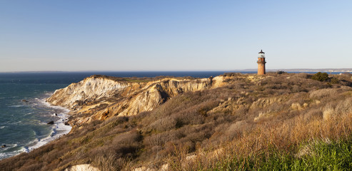 Gay Head Light and Gay Head cliffs; Martha's Vineyard, Massachusetts, United States of America