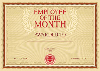 Epic image with employee of the month printable certificate