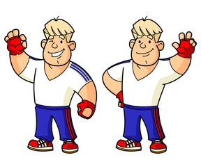 Fitness instructor, coach, athlete. Set mascots.