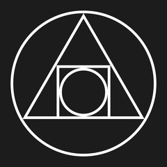 Alchemy Symbol - Squaring the Circle