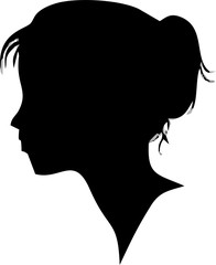 silhouette-icon or profil for laldies