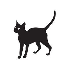 Cat Icon Fill Black