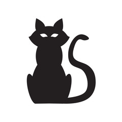 Cat Icon Fill Black