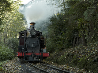Puffing Billy train ride through the Dandenong Ranges near Melbourne, Australia