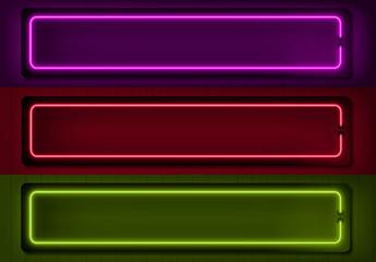 Insieme didascalie neon