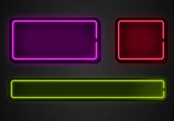 Grafica sovrapposizioni neon