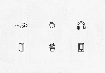 Conjunto de iconos dibujados a mano