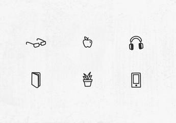 Handgezeichneter Symbolsatz