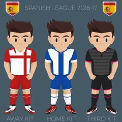 Barcelona Soccer Club Kits 2016/17 La Liga