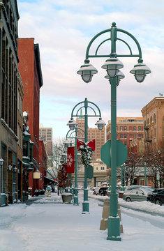 Milwaukee Wisconsin Third Ward in Winter