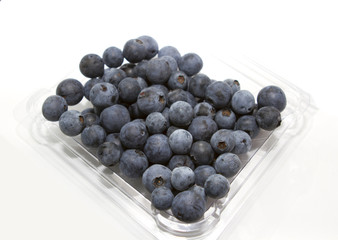 Sweet Blueberry berry closeup isolated on white background