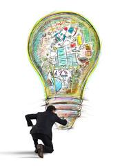 Fototapete - Paint business idea