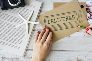 Delivered Communication Writing Free Delivery Concept