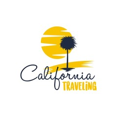 Travel and tour agency vector logo design. Beach, Sea, City, Temple, MountainHorizon