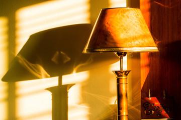 lamp in bedroom, romantic room