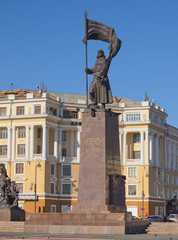 Monument on the central square city of Vladivostok