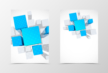 Front and back dynamic geometric flyer template design