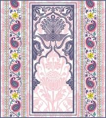 Wall Murals Imagination peacock, feathers ,wedding card design, royal India
