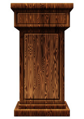 Wooden Podium 3D Illustration