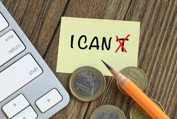 change of I can't to I can