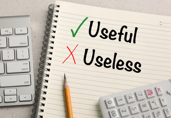 concept of useful versus useless