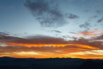 Sunrise at mountainside