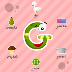 Literka G i słowa z nią związane