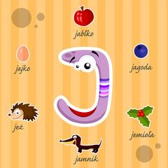 Literka J i słowa z nią związane