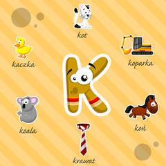 Literka K i słowa z nią związane