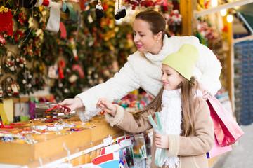 shopping at the Christmas market