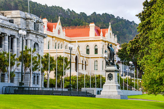 old parliament buildings in wellington, new zealand